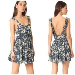 Free People Dear You Floral Ruffle Mini Dress